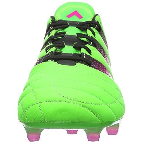 big sale 76bee 706db nuevo adidas Ace 16.1 FgAg Leather, Botas De Fútbol para Hombre, Negro