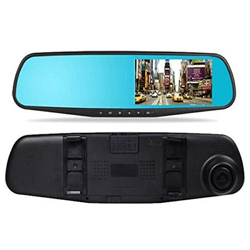IDS Home 4.3'' Wide Angle Blue Screen IR Night Vision Rearview Mirror Vehicle Traveling Data Recorder by IDS Home