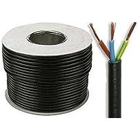 Cable flexible de PVC, color negro, 3 cables