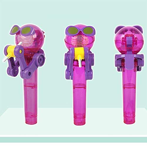 Ocamo Robot Lollipop, Cubierta de Polvo de Caramelo, Adecuado para el Almacenamiento de Dulces para niños Púrpura