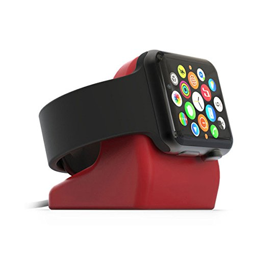 Kartice Apple Silicone Charging Docking Version Red