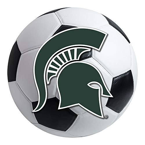 FANMATS NCAA Michigan State University Spartans Nylon Face Soccer Ball Rug