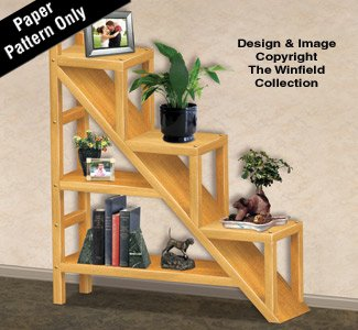 Amazon Com Staircase Shelving Unit Woodworking Plans Arts Crafts