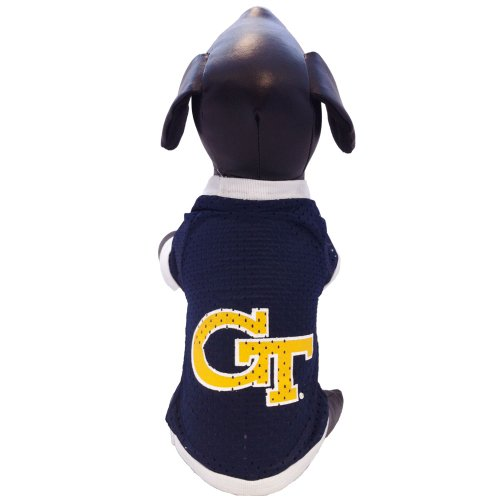 NCAA Georgia Tech Yellow Jackets Athletic Mesh Dog Jersey (Team Color, X-Small)