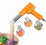 Pasta Maker Handheld Automatic Noddle Maker Press Vegetables Juice with 3 Pressing Moulds for Making Spaghetti Fettuccine Noodles