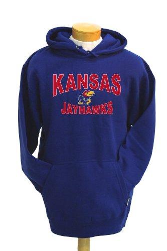 NCAA Kansas Jayhawks Sinatra Hooded Sweatshirt, Royal, Large