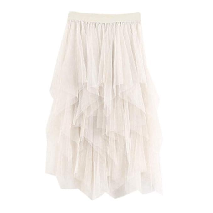Covermason Minifalda de Verano Mujer 2019 Cómodo Tul Cintura Alta ...
