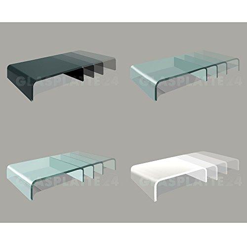 DURATABLE® TV Glasaufsatz Glastisch LCD Tisch Aufsatz Monitorerhöhung Fernsehtisch Glas Schrankaufsatz Aufsatz Fernseher Erhöhung