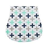 CLCROBD Baby Burping Cloths Boys Girls 5pcs, Triple Layer, 100% Organic Cotton, Soft and Absorbent Towels, Burp Rags