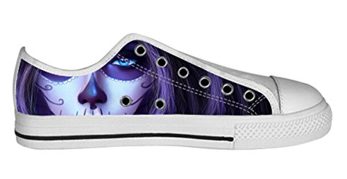 Breathable Antiskid Low Top Canvas Shoes with Day of Dead Design for Women Ladies Shoes15 nRNAWQqw