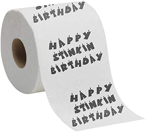 Happy Stinkin Birthday - Toilet Paper Gift -Novelty Birthday Present -Toilet Roll -Quirky Birthday