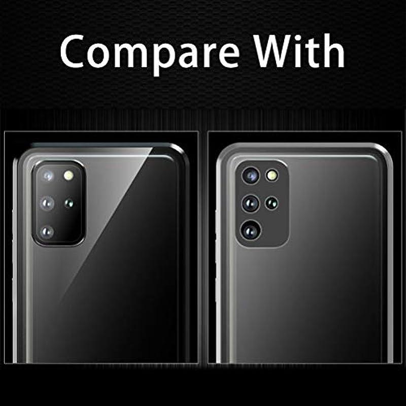 2Buyshop kompatybilne z Samsung Galaxy S20 Plus etui magnetyczne adsorpcja etui na telefon komÓrkowy Bumper Case 360 stopni ochrona etui ochronne Galaxy S20 Plus podwÓjne boki szklana osłona - czarny: Odzie&