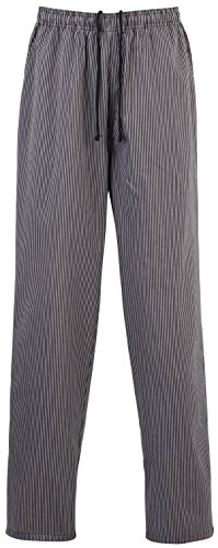Premier Essential Chefs Trouser - - Black/Grey Fine Stripe - XS by Premier (Image #1)
