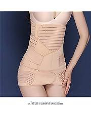 زياليتيه حزام الخصر للتدريب بدلة للنساء بدلة طويلة للنساء حجم زائد شكل الجسم للنساء، Wowen 3 في 1 شفاء البطن التفاف الخصر بيلفيس حزام المشكل بعد الولادة ملابس داخلية لتشكيل الجسم كاكي XL