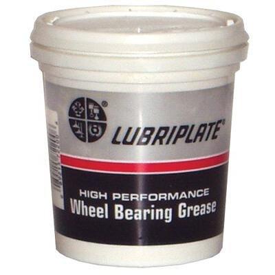 Lubriplate L0220-004 Non-Corrosive Lithium Complex Wheel Bearing Grease, 16 oz Plastic Tub, Off-White
