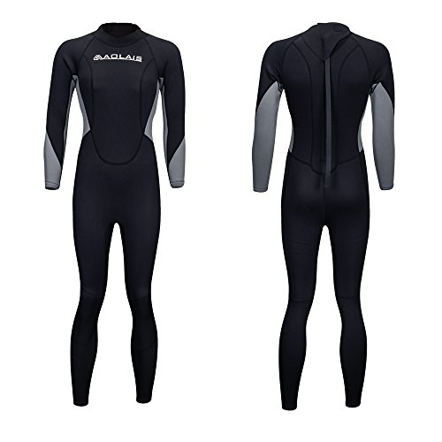 aolais 3mm full wetsuit for men and women (women 1 style, - Wetsuits Full Womens