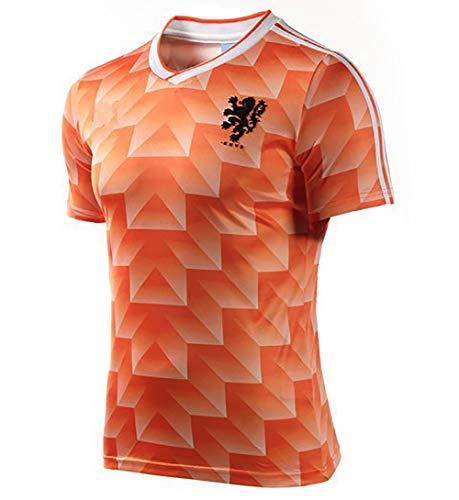 YANDDN Camisetas de fútbol Retro Camiseta de fútbol del Equipo Nacional holandés de la Copa Mundial de 1988 Camiseta de…
