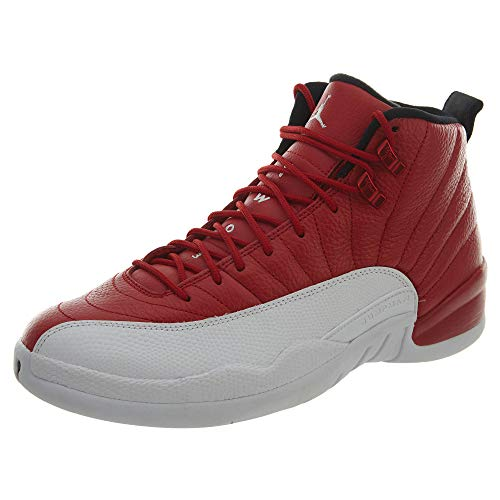 de Red Homme NIKE White black 12 Air Espadrilles Basket Jordan Ball Gym Retro Rojo PZTwPX