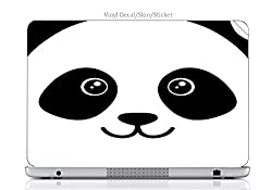 Laptop VINYL DECAL Sticker Skin Print Panda Bear Face Cute fits Generic 17in Laptop (15.2in X 9.9in)