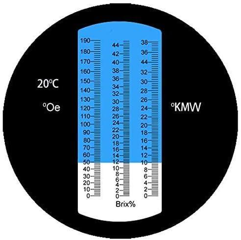0-140 /° /Öchsle 0-32/% Brix 0-26/% KMW /Öchslemeter mit ATC f/ür Wein Bier Brauen f/ür Messung des Zuckeranteils zur Herstellung von Qualit/ätsweinen AUTOUTLET Winzer Refraktometer