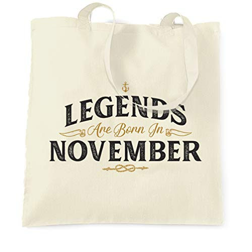In Legends Bag November Tote Natural Are Birthday Born FpAw1qxR