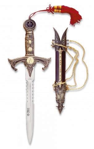 Cuchillo de decoración Tole10 TEMPLARIOS con funda incluida ...