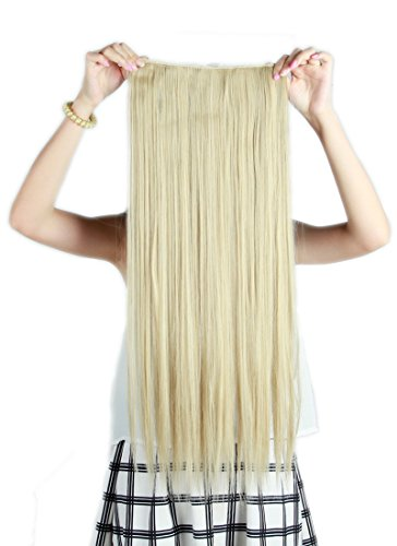 5 Minute Diy Halloween Costumes (SexyBaby 1 Unit 5 Clips 26 Inches Straight Clip-in Extensions Hairpiece (Ash Blonde Mix Bleach Blonde,140G))