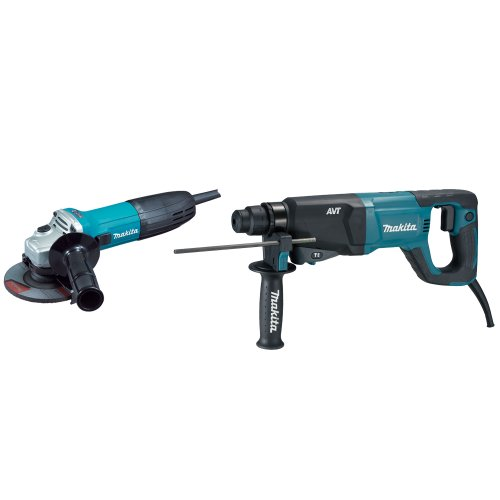 Makita HR2621X2 1-Inch Rotary Hammer SDS-Plus with Free GA4530 4-1/2-Inch Grinder (Discontinued by Manufacturer)
