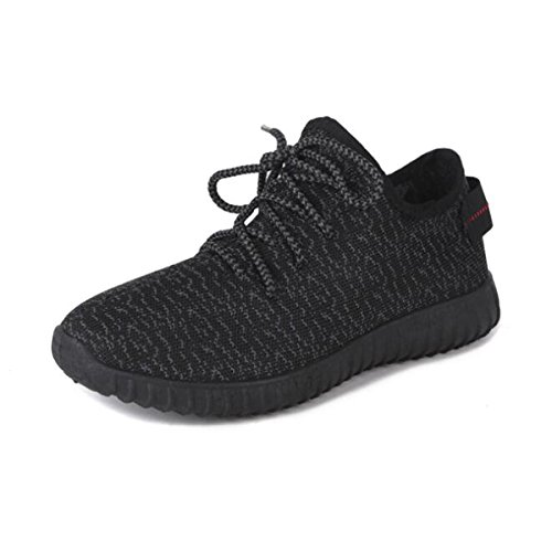 Womens Knit Running Shoes Casual Lightweight Breathable Athletic Mesh Sneakers Black