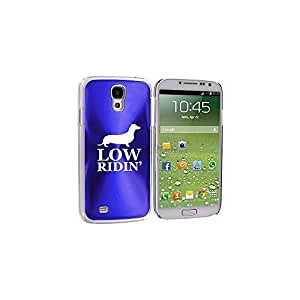 Blue Samsung Galaxy S4 S IV i9500 Aluminum Plated Hard Back Case Cover KK651 Low Ridin' Dachshund by ruishername