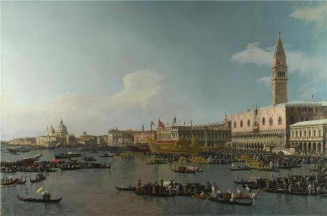 [The Perfect Effect Canvas Of Oil Painting 'Canaletto - Venice - The Basin Of San Marco On Ascension Day,about 1740' ,size: 30x45 Inch / 76x116 Cm ,this Amazing Art Decorative Prints On Canvas Is Fit For Study Artwork And Home Decoration And] (Guys And Dolls Costumes Era)