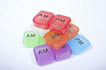 AM/PM Pocket Pill Box Organizer (Blue)