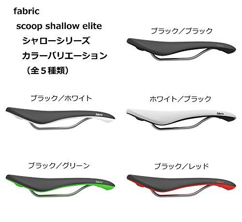 Fabric 2018 Scoop Shallow Elite Bicycle Saddle - FU4500SE (BLACK/WHITE) by Fabric (Image #6)
