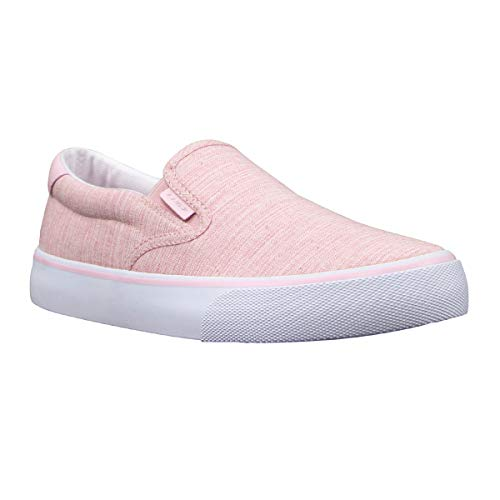 Lugz Women's Clipper Classic Slip-on Fashion Sneaker, Soft Pink/White, 11