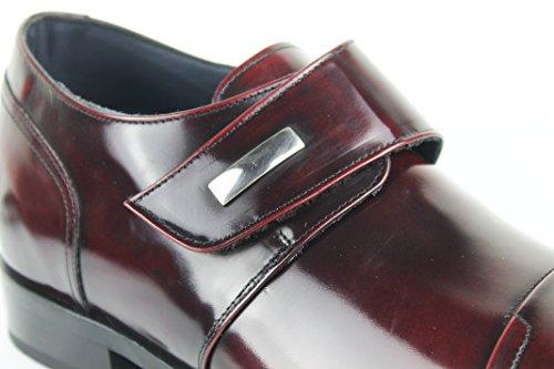 di Interno 7 Elegante Pelle Burdò in con Aumentato 100 Pelle rosso Scarpe di qualità Realizzata Zerimar Stile Alta cm Colore 1x7AW