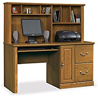 Orchard Hills Computer Desk with Hutch(Carolina Oak)