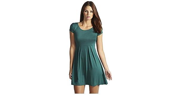 YourPrimeOutlet - Vestido - para mujer verde verde botella 34: Amazon.es: Ropa y accesorios
