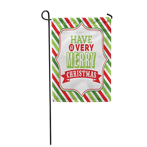 - Tarolo Decoration Flag Holiday of Christmas Word Have Very Merry Phrase on Fancy Against Colorful Stripe Clip Arts Thick Fabric Double Sided Home Garden Flag 12