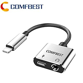 COMFBEST Headphone Jack Adapter Charger AUX Audio 3.5 mm Jack Adapter 2 in 1 Earphone Audio Jack Cable (B00113XADE) | Amazon price tracker / tracking, Amazon price history charts, Amazon price watches, Amazon price drop alerts