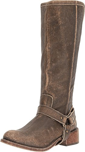 Corral Womens Distressed Leather Tall Harnas Laars - P5100 Bruin