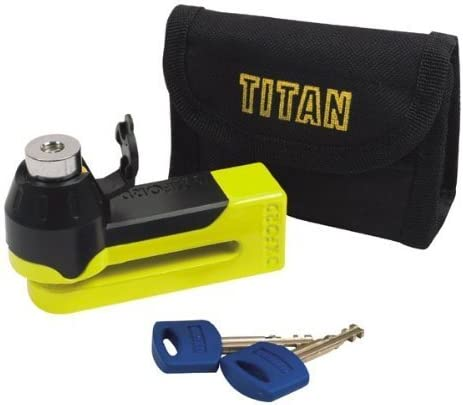 FLAT KEY CHROME OXFORD TITAN DISC-LOCK /& POUCH
