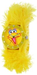 Sesame Street Kids' SW4930BB Big Bird Yellow Furry Slap Watch