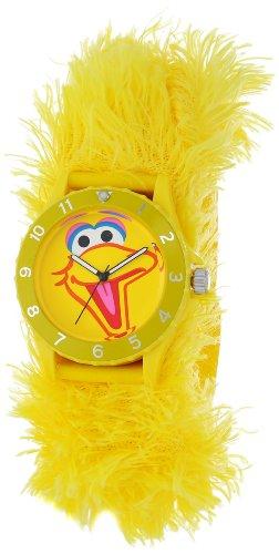 (Sesame Street Kids' SW4930BB Big Bird Yellow Furry Slap Watch)