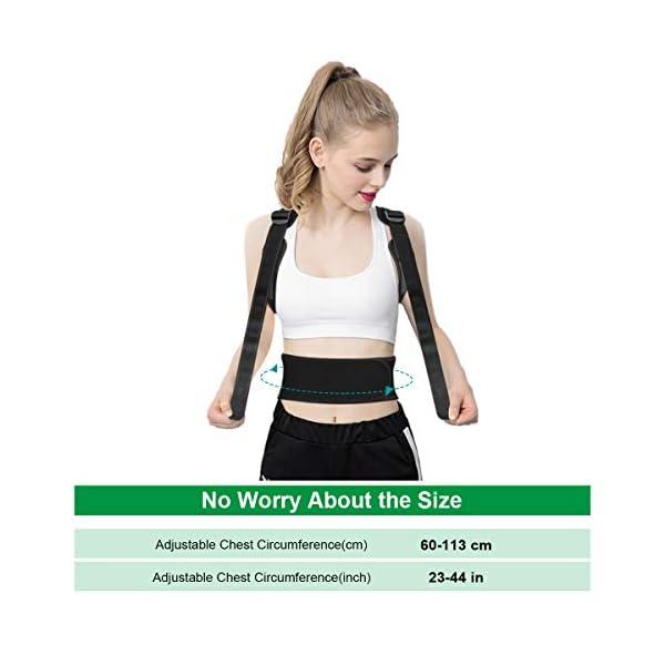 OMERIL Corrector Postura Espalda, Corrector de Postura Ajustable y Respirable para Espalda, Hombros y Clavícula, 2 Hombreras, Corregir Postura Espalda Recta Soporte para Hombres y Mujer - Actualizado 5