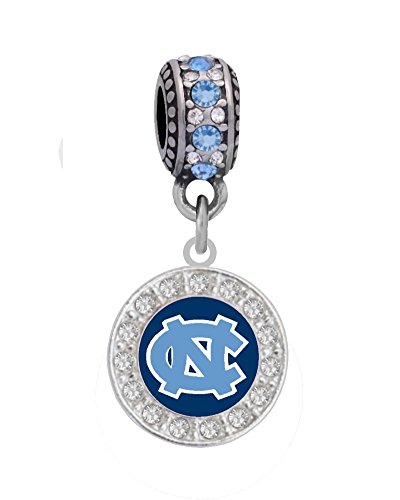 Large Charm Logo (University of North Carolina Crystal Logo Charm Fits European Style Large Hole Bead Bracelets)