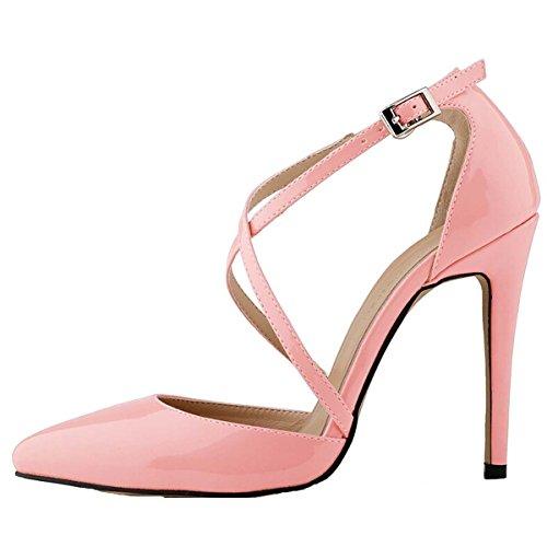 Win8Fong - Sandalias de vestir para mujer Rosa - rosa