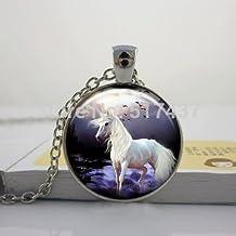 Pretty Lee Horse Pendant White Horse Necklace New Year Jewelry Horse Jewelry Happy New Year Pendan