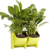 Adeeing 2-Pocket Vertical Gardening Limited Space Stackable Planters for Indoor Outdoor Decoration or Growing Plants