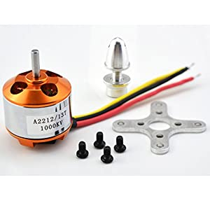 YoungRC A2212 1000KV Brushless Motor+ 30A ESC Electric Speed Controller + Gold Bullet Banana Plugs and Heat Shrink Tubes for RC Multicopter 450x525 Quadcopter