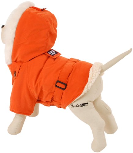 Petego Dogrich Italian Winter Dog Coat, Orange, 14 Inches, My Pet Supplies